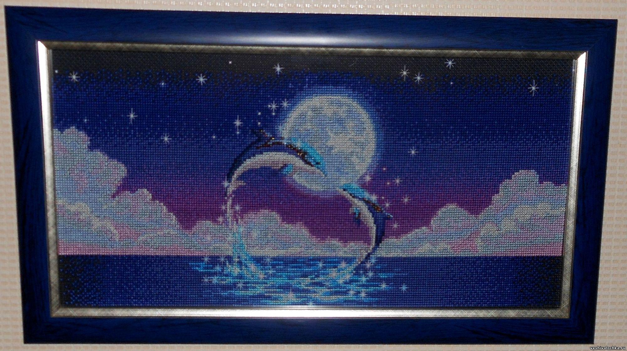 Вышивка крестом: Дельфины схема 63