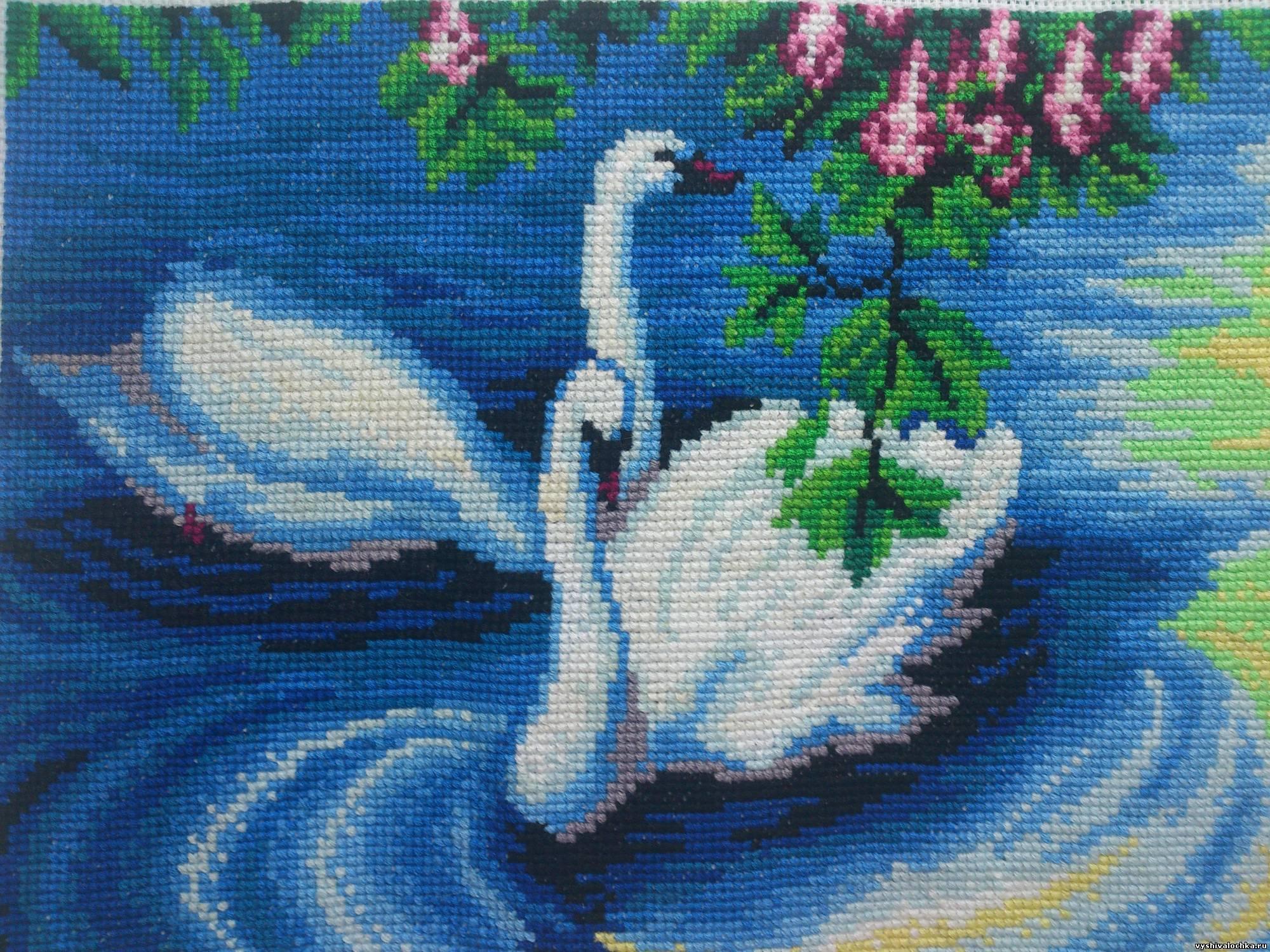 Значение вышивки лебединая пара 33