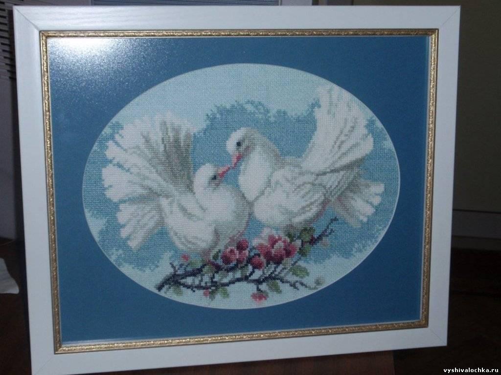 Два голубя вышивка крестом 33